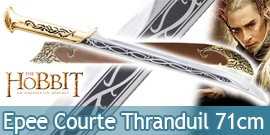 Le Hobbit Epee Courte Thranduil Dague + Fourreau 71cm