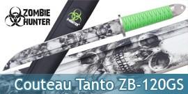 Poignard Tanto Zombie Hunter Couteau ZB-120GS
