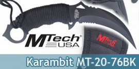 Couteau Karambit Mtech USA MT-20-76BK Black Edition