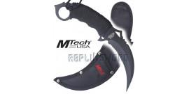 Couteau Karambit Mtech USA MT-20-76BK Black Edition