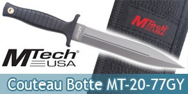 Couteau de Botte Grey Edition Mtech USA MT-20-77GY