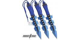Set 3 Couteaux de Lancer Blue Perfect Point PP-110-3BL