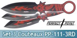 Set 3 Couteaux de Lancer Dragon Red Fire PP-111-3RD
