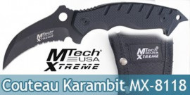 Couteau Karambit Xtreme Ballistic MX-8118 Black Edition