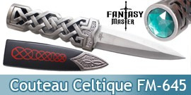 Couteau Celtique Celte Emeraude FM-645 Fantasy