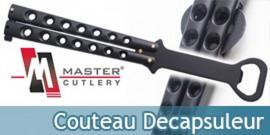 Couteau Papillon Decapsuleur Black YC-305B Acier