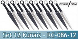 Set 12 Kunais Perfect Point Couteaux de Lancer RC-086-12