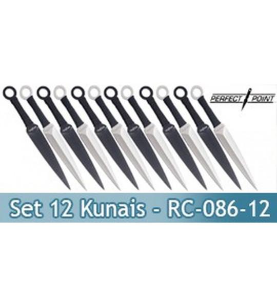 Set 12 Kunais Perfect Point Couteaux de Lancer RC-086-12
