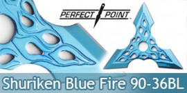 Shuriken Etoile de Lancer Perfect Point 90-36BL Bleu Ninja Shinobi Fantasy