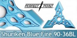 Shuriken Etoile de Lancer Perfect Point 90-36BL Bleu Ninja Shinobi Fantasy