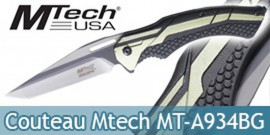 Couteau Pliant Tactical Mtech USA Green MT-A934BG