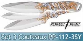 Set 3 Couteaux de Lancer Dragon Perfect Point PP-112-3SY