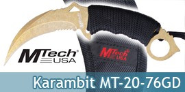 Couteau Karambit Mtech USA MT-20-76GD Gold Edition