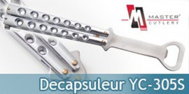 Couteau Papillon Decapsuleur Silver YC-305S Master Cutlery