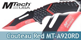 Couteau Pliant Red Black MT-A920RD Mtech USA