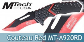 Couteau Pliant Red Black MT-A920RD Mtech USA