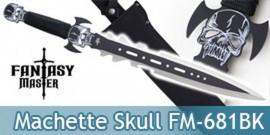 Machette Fantasy Master Black Skull Epee Courte FM-681BK