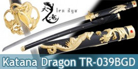 Katana Lame Maru Gold Dragon TR-039BGD Ten Ryu