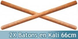 2X Batons en Kali Arts Martiaux Bois 66cm SE-612NX2