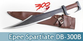 300 - Epee Leonidas Spartiate Black Glaive DB-300B