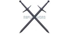 2X Epees de Frappe Medieval Polypropylene Combat