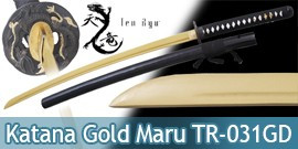 Katana Ten Ryu Gold Lame Maru Epee Sabre Practical TR-031GD