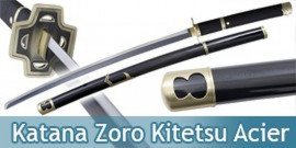One Piece Katana Yabushiri Black Replique Epee Zoro