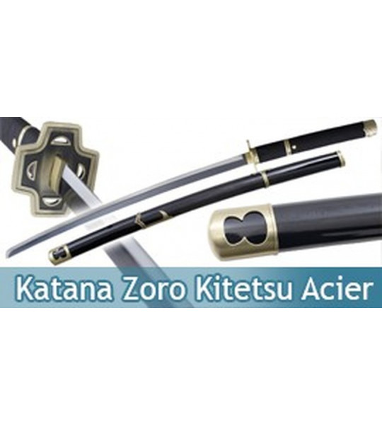 One Piece Katana Yabushiri Black Replique Epee Zoro