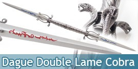 Epee Double Lame Cobra Dague