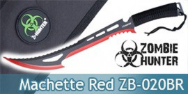 Machette Red Zombie Hunter ZB-020BR Chasseur Epee