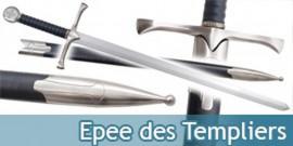 Epee des Templiers Chevalier Replique avec Fourreau