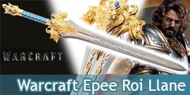 Warcraft Epee du Roi Llane Wrynn Lame Acier Lion's Fang 121cm
