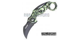 Couteau Karambit Tac Force TF-578GN Couteau de Poche Pliant