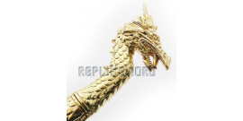 Dague Gold Dragon Poignard Couteau Fantasy