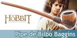 Le Hobbit Pipe de Bilbo Baggins Replique en Bois
