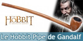 Le Hobbit Pipe de Gandalf le Magicien Replique en Bois