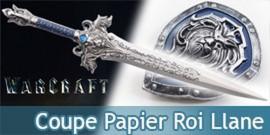 Warcraft Coupe Papier Epee Roi Llane avec Bouclier