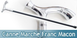 Canne de Marche Franc Macon en Acier 94cm Maçonnique