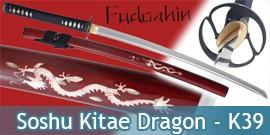 Katana Fudoshin Practical Soshu Kitae Dragon K39