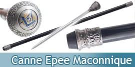 Canne Epee Maconnique Acier Canne de Marche