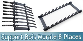 Support Bois Murale 8 Places Katana Epee Presentoir