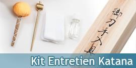 Kit Entretien Katana Epee Sabre Coffret en Bois