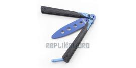 Couteau Papillon Balisong Entrainement Blue MT-872BL