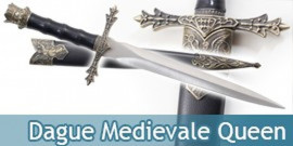 Dague Medievale Queen Couteau Moyen Age Decoration