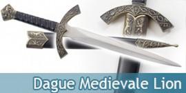 Dague Medievale Lion Couteau Moyen Age Decoration