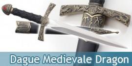 Dague Medievale Dragon Couteau Moyen Age Decoration