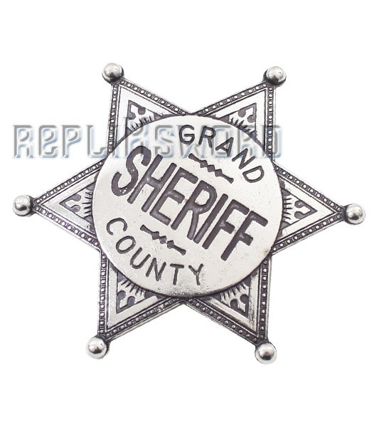Etoile de Sherif Denix Badge Acier 113/NQ