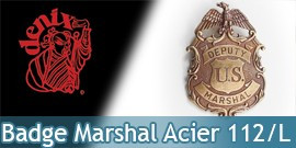 Badge Etoile de Marshall Denix Badge Acier 112/L