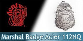 Badge Etoile de Marshal Denix Badge Acier 112/NQ