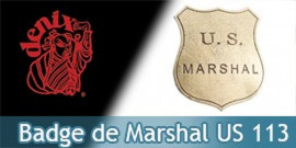Badge Etoile de Marshal US Denix Badge Acier 113